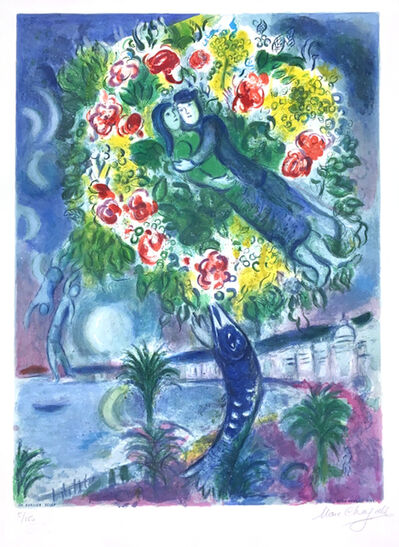 Marc Chagall, 'Couple et Poisson (Couple and Fish), From Nice and the Cote d'Azur', 1967