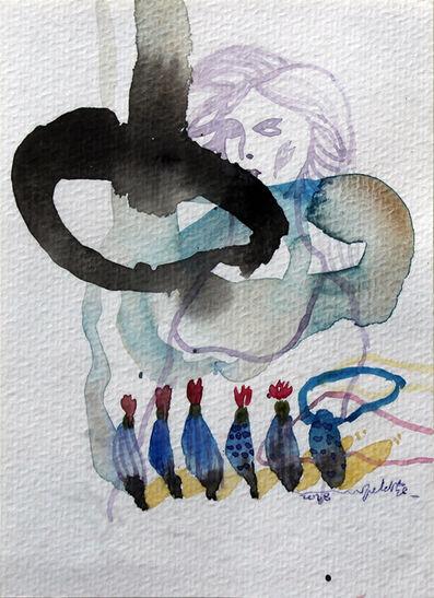 Jehad Al Ameri, 'Lady & Flowers', 2018