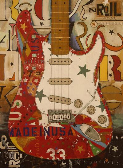 Michael Babyak, 'Red Stratocaster, White Pickguard', 2017