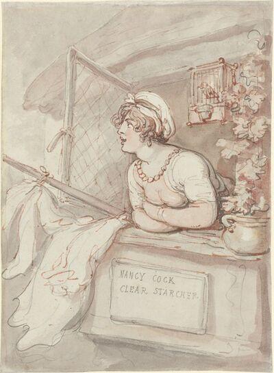 Thomas Rowlandson, 'Nancy Cock - Clear Starcher', ca. 1815
