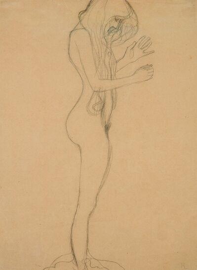 Gustav Klimt, 'Study for 'Poetry' in the Beethoven Frieze', 1901