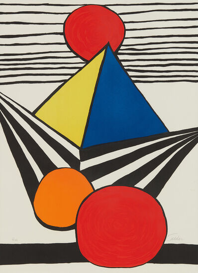 Alexander Calder, 'Pyramid and Red Sun, from La Mémoire élémentaire (The Elementary Memory)', 1978