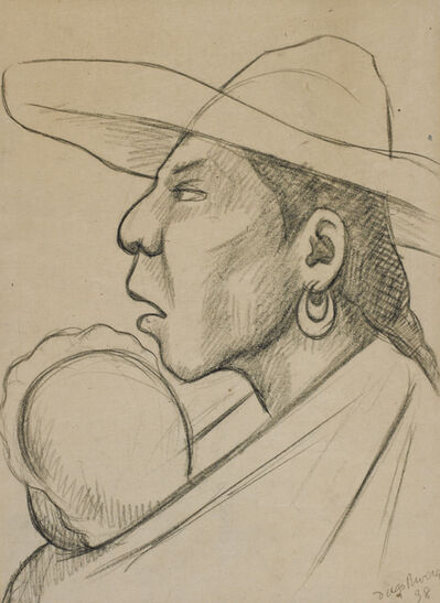 Diego Rivera, 'India con nino', 1938