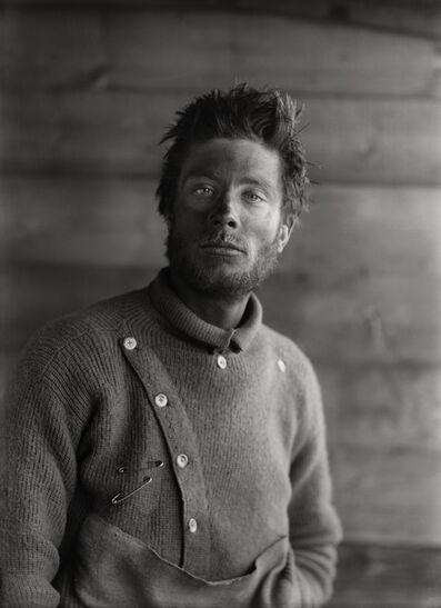 Herbert George Ponting, 'BERNARD DAY ON HIS RETURN FROM THE BARRIER, 21 DECEMBER 1911', 1911