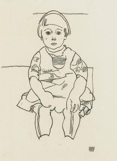 Egon Schiele, 'Portrait eines Kindes (Anton Peschka, Jr.)', 1918