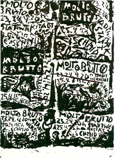 Gunter Damisch, 'Plakat Molto Brutto', 1982