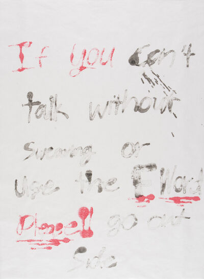 Todd Norsten, 'If You Can't Talk Without Swearing #2', 2016