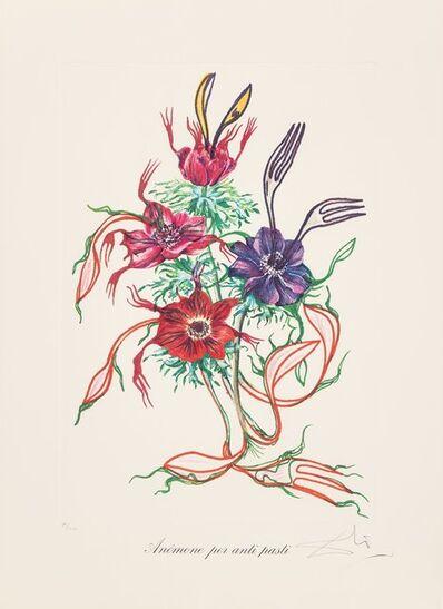 Salvador Dalí, 'Anenome per anti-pasti, from Florals', 1972