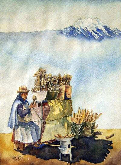 Emilio Torrez, 'Illimani and Sullus Vendor', 2013