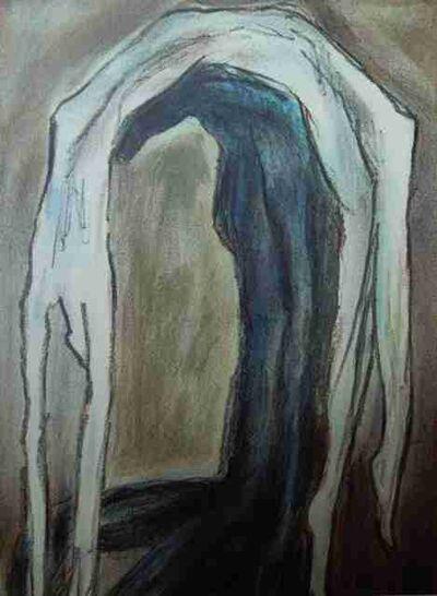 Jitka Válová, 'Under the Weight, pastel on canvas, 80´s.', ca. 1980