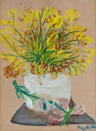Antonietta Raphael Mafai, 'Yellow flowers in a vase'
