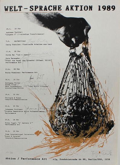 Micha Brendel, 'Welt-Sprache Aktion 1989', 1989