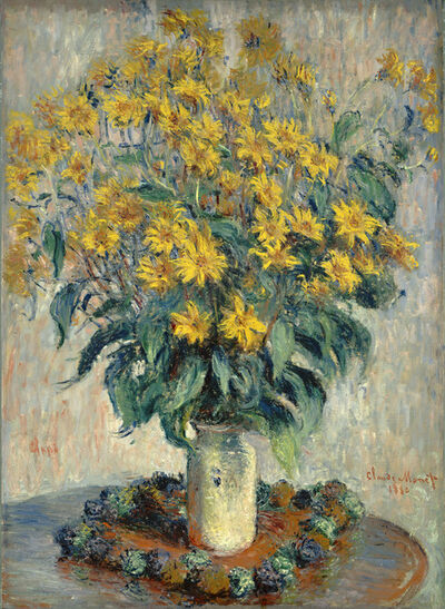 Claude Monet, 'Jerusalem Artichoke Flowers', 1880