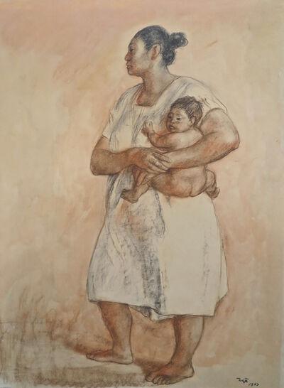 Francisco Zúñiga, 'Madre y nino', 1967