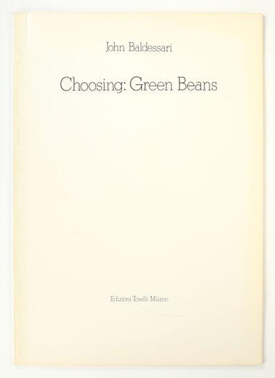 John Baldessari, 'Choosing: Green Beans', 1972