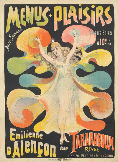 Anonymous, 'Menus-Plaisirs / Emilienne d'Alençon.', ca. 1895
