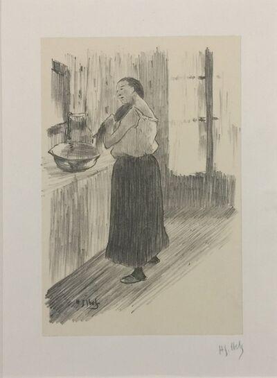 Henri-Gabriel Ibels, 'Femme à la toilette', 1890-1895