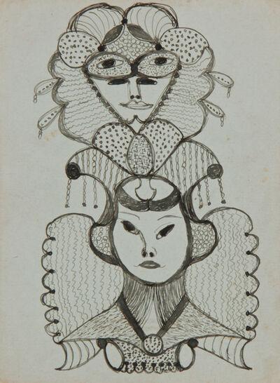 Minnie Evans, 'Untitled (Faces) ', ca. 1946