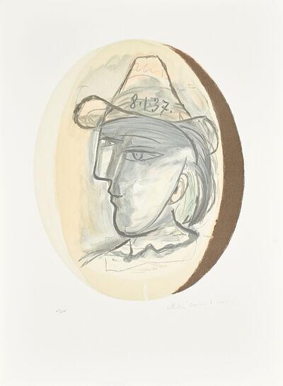 Pablo Picasso, 'Two Artworks: Guitare Verre et Bouteille; Tete'