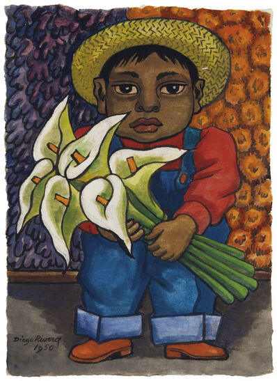 Diego Rivera, 'Niño con alcatraces', 1950