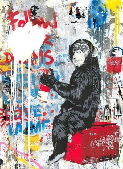 Mr. Brainwash, 'Every Day Life - Follow your Dreams on cement', 2019