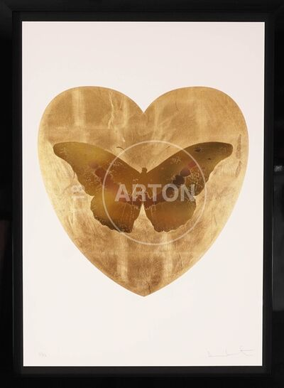 Damien Hirst, 'I Love You, Butterfly, Gold', 2015