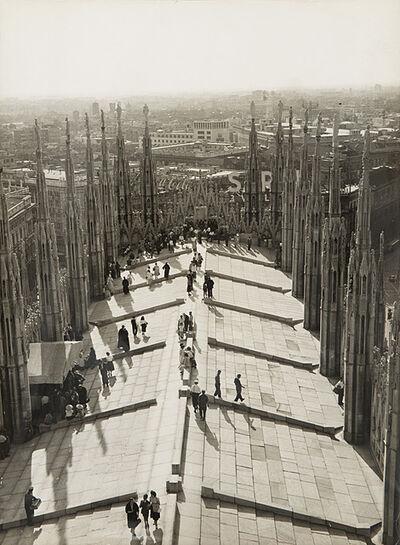 Ottavio Cisventi, 'Terrazze del Duomo, Aranciata La Vaticana, Milano', anni 1950