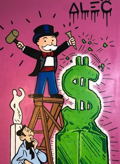 Alec Monopoly, 'Monopoly Sculpting Green $ Sign', 2019