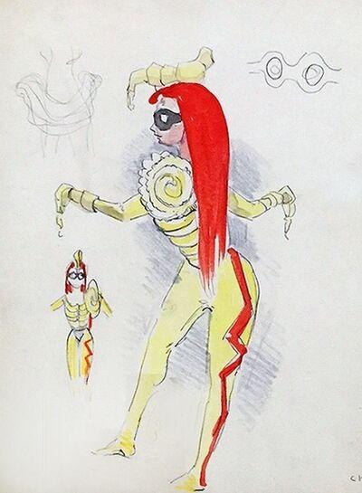Kurt Seligmann, 'Untitled (Standing Figure (Costume Study for four temperaments))', 1940-1941