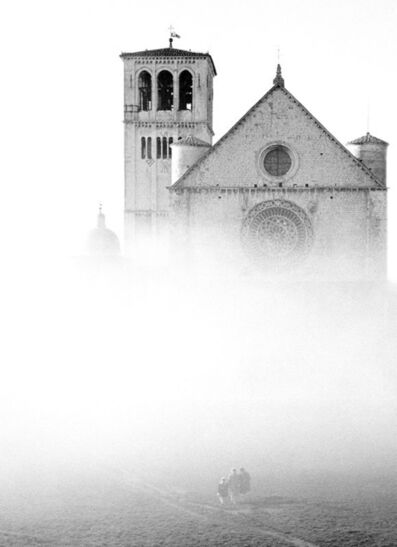 Elio Ciol, 'Basilica nella nebbia - Assisi', 1957