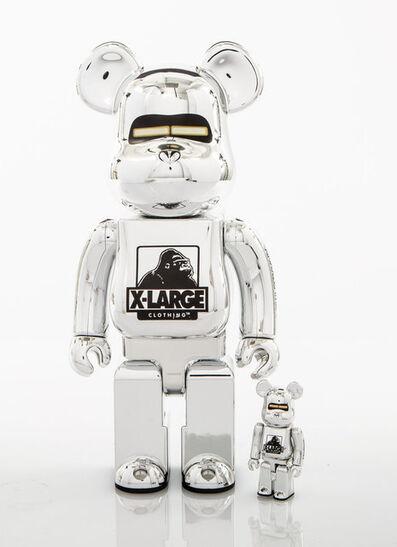 BE@RBRICK X XLARGE X Hajime Sorayama, 'Robot 400% and 100% (Silver)', 2018