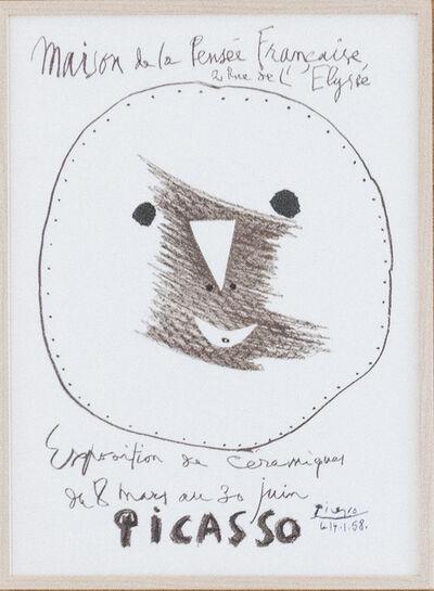 Pablo Picasso, 'Maison de la Pensée Francaise Exposition de céramiques', 1958
