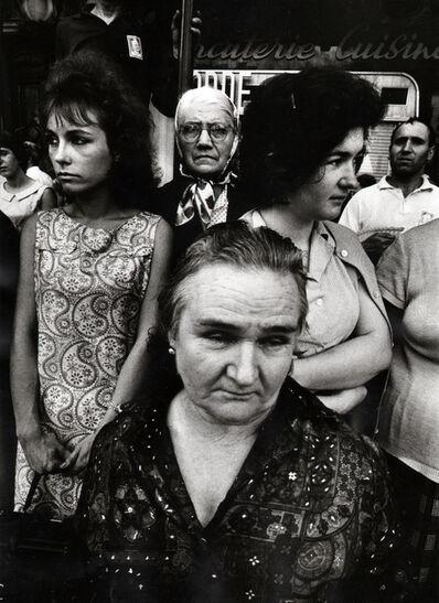 William Klein, '4 Women, Funeral Maurice Thorez, Paris', 1964