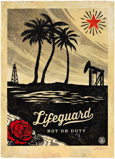 Shepard Fairey, 'Lifeguard Not on Duty, HPM', 2015