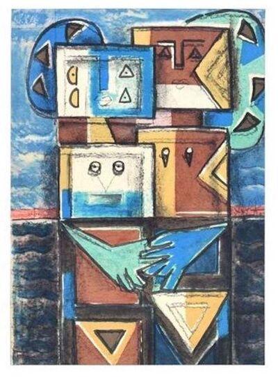 Ibrahim Kodra, 'Embrace', 1975