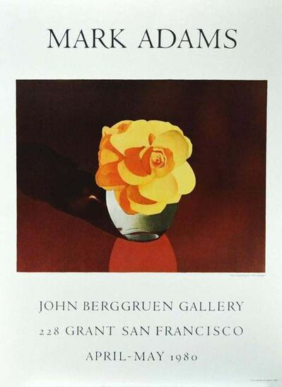 Mark Adams, 'Pale Orange Begonia 1979 Lithograph, April-May 1980', 1980