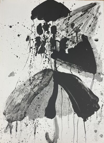 """Walasse Ting, 'Unsigned states for the lithographs """"Star Umbrella""""  (Black #9)', 1967"""