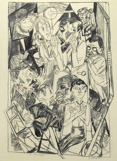 Max Beckmann, 'Die Ideologen, from Die Hölle', 1919