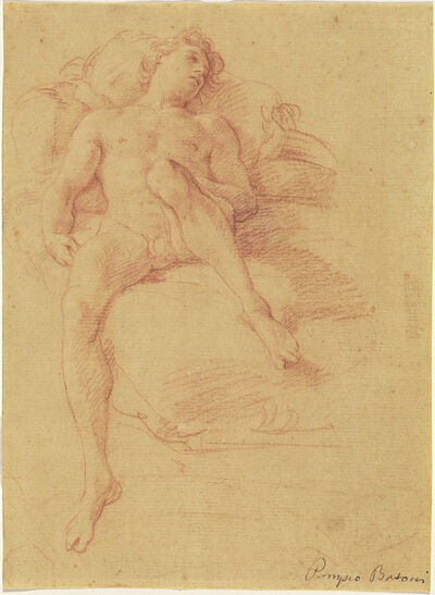 Pompeo Batoni, 'A Youth Reclining on a Bed (Antiochus)', ca. 1746