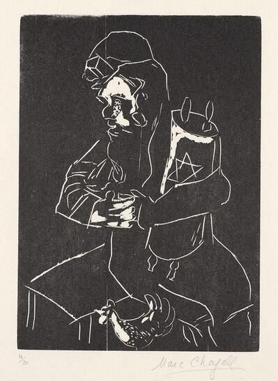 Marc Chagall, 'Jude mit Thora (Juif à la thora; Jew with Torah)', 1922-23/1950