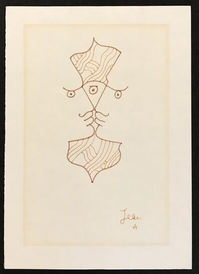 Jean Cocteau, 'Two Profiles, Three Eyes', ca. 1960