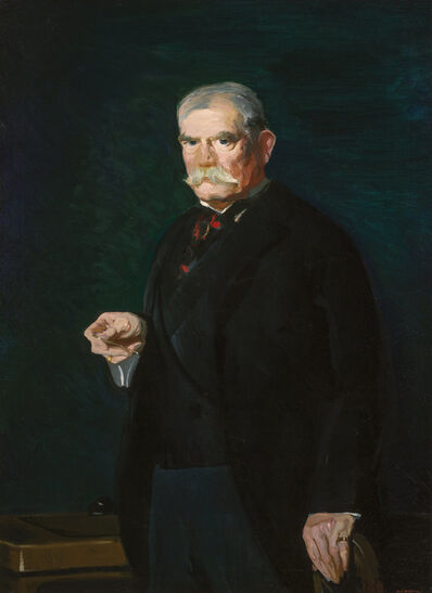 George Wesley Bellows, 'Portrait of Judge Peter Olney', 1914