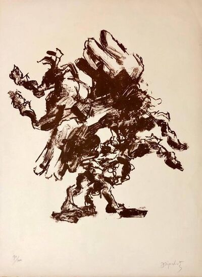 Jacques Lipchitz, 'Large French Modernist Cubist Lithograph Pencil Signed', 20th Century