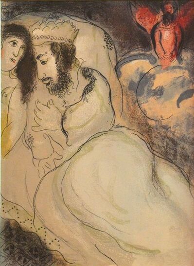 "Marc Chagall, 'Sarah and Abimelech - from the series ""Illustrations for the Bible""', 1960"