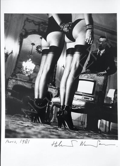 Helmut Newton, 'Two pairs of legs in stockings', ca. 1979