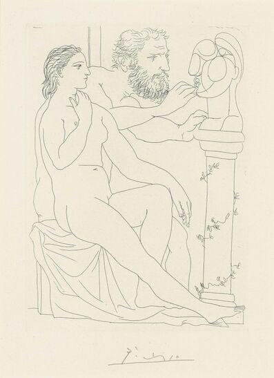 Pablo Picasso, 'Sculpteur, Modèle, et Buste sculpté, from: La Suite Vollard', 1990