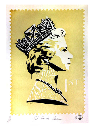 JJ Adams, 'God save the Queen (Gold)', 2014