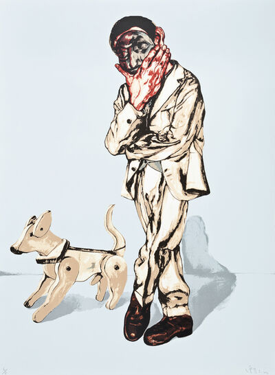 Zeng Fanzhi 曾梵志, 'Man and Dog (from Mask Series)', 2006