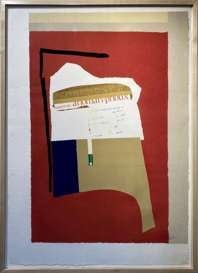 Robert Motherwell, 'AMERICA LA FRANCE VARS I', 1984