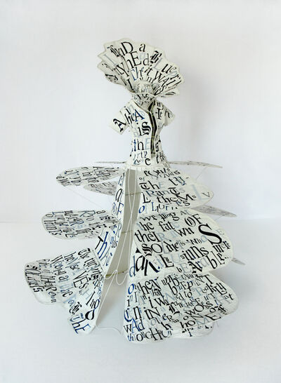 Lesley Dill, 'Gown of Blueprint', 2014